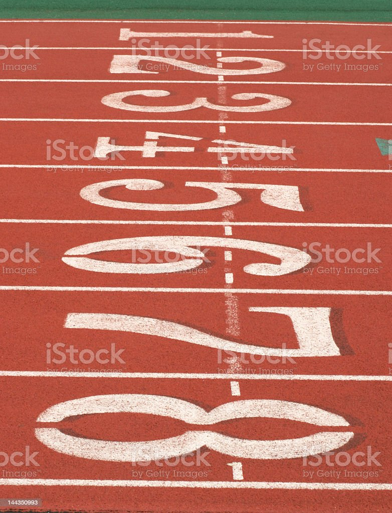 Start Lanes stock photo