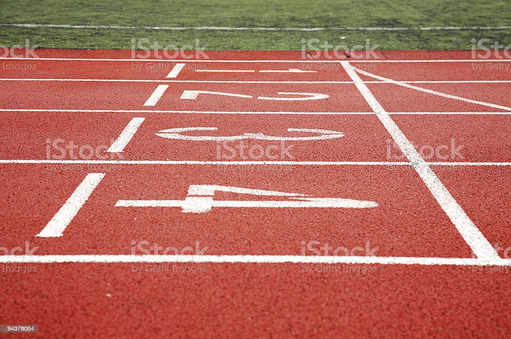 start line of racing track royalty-free stock photo