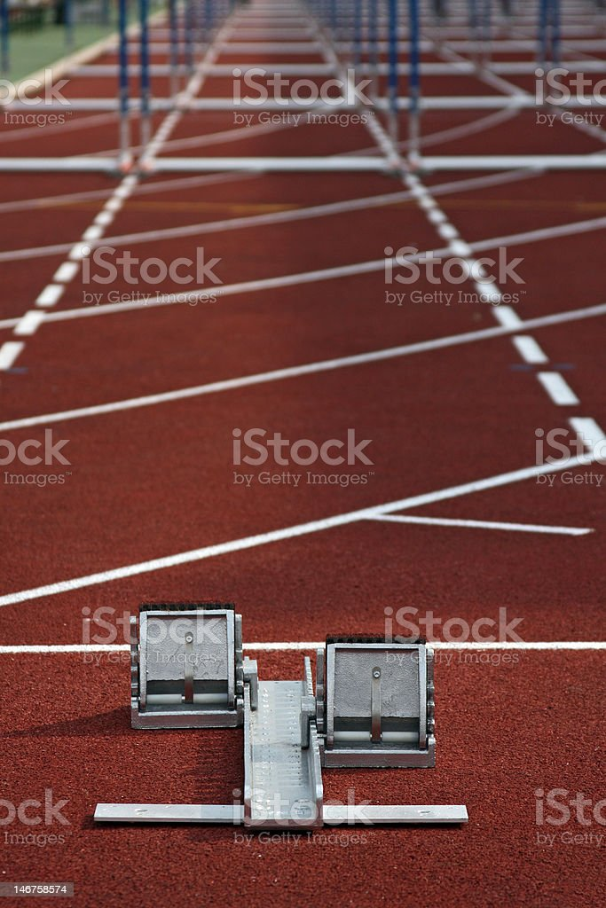 Start line royalty-free stock photo