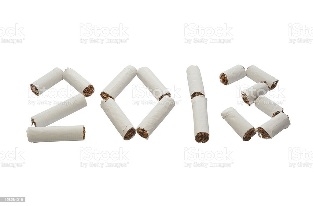 Start New 2013 Year without smoking! royalty-free stock photo