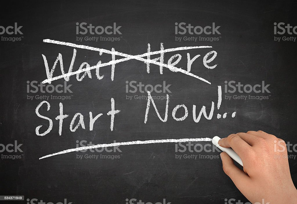 start now stock photo