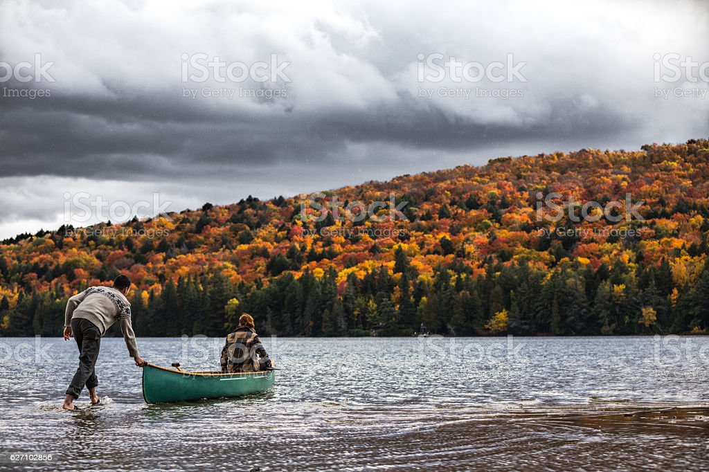 Start of a great tour in canoe stock photo