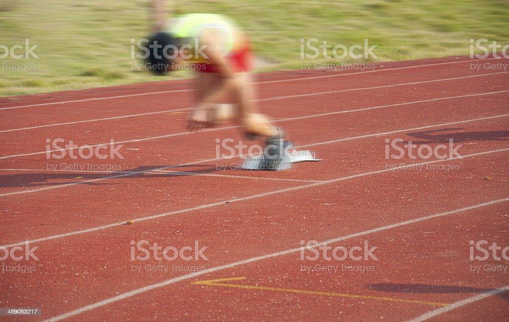 Start of a race stock photo
