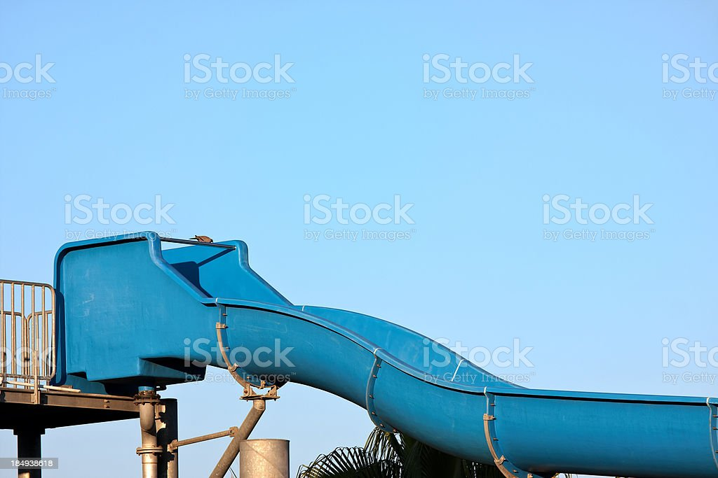 Start of a water slide stock photo