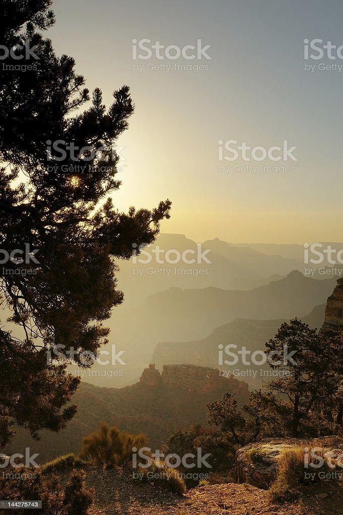 Start of Day, Grand canyon, Arizona royalty-free stock photo