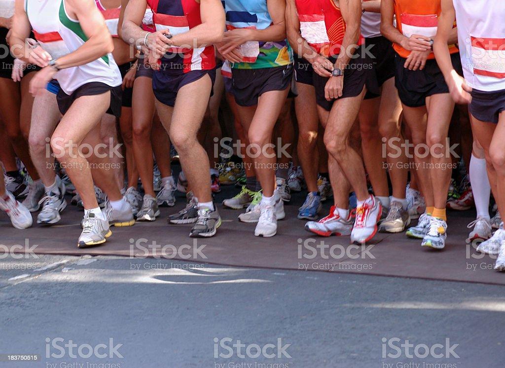 Start of Marathon Race royalty-free stock photo