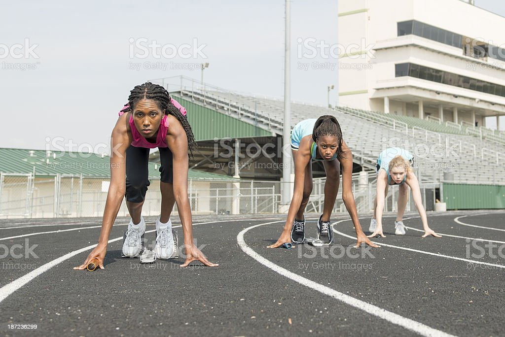 Start of the Relay Race royalty-free stock photo
