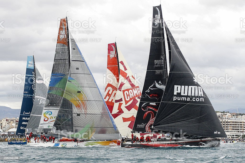 Start of the Volvo Ocean Race 2.011-2.012 royalty-free stock photo