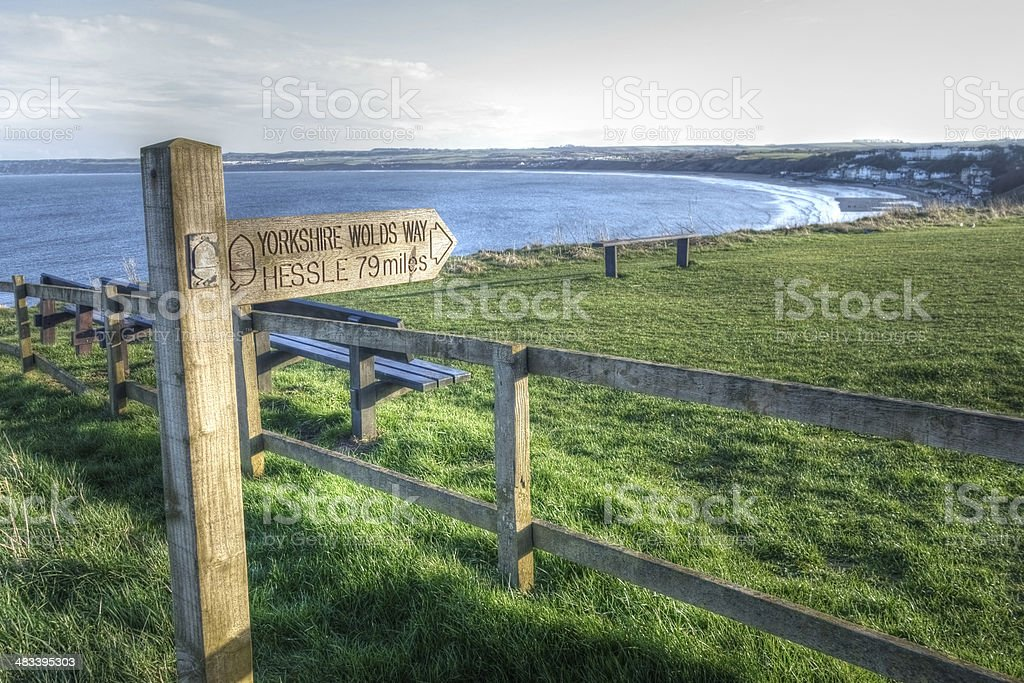 Start of the Yorkshire Wolds Way royalty-free stock photo