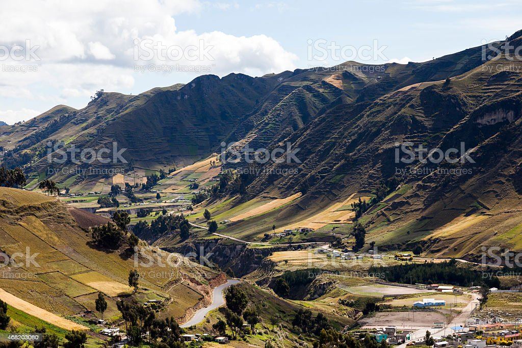 Start of Toachi River canyon around Zumbahua stock photo