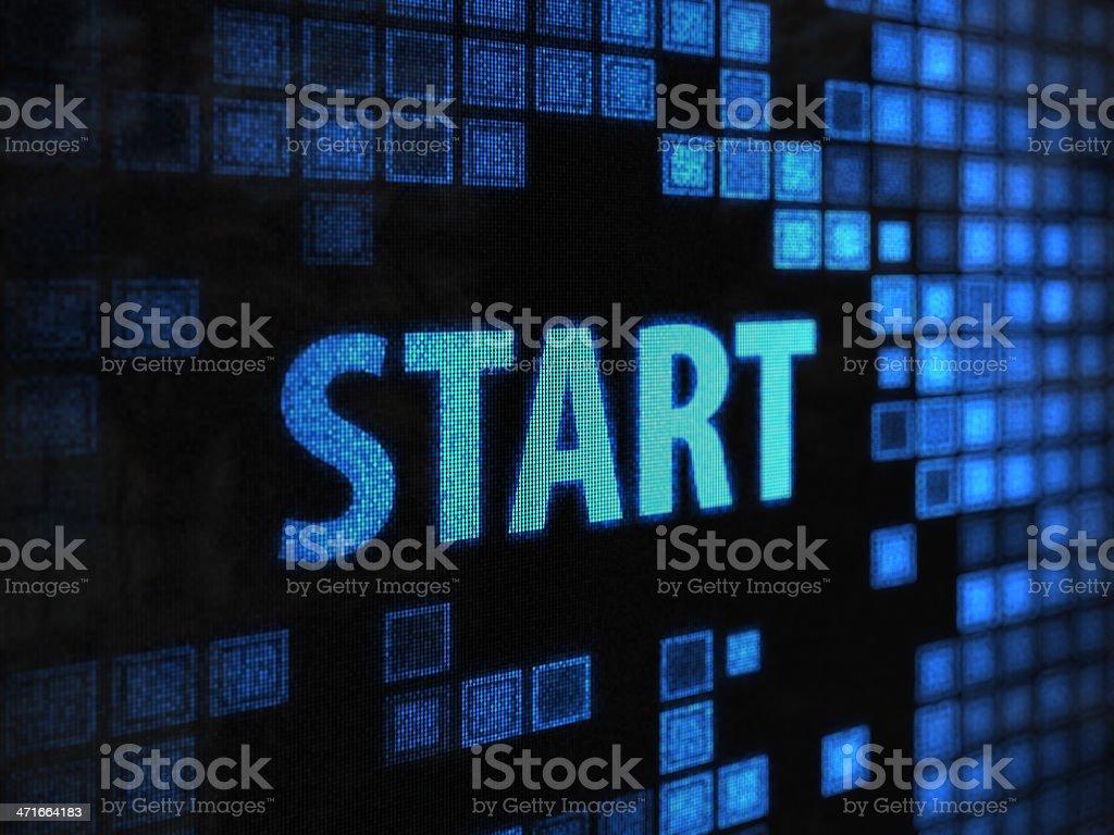 Start royalty-free stock photo