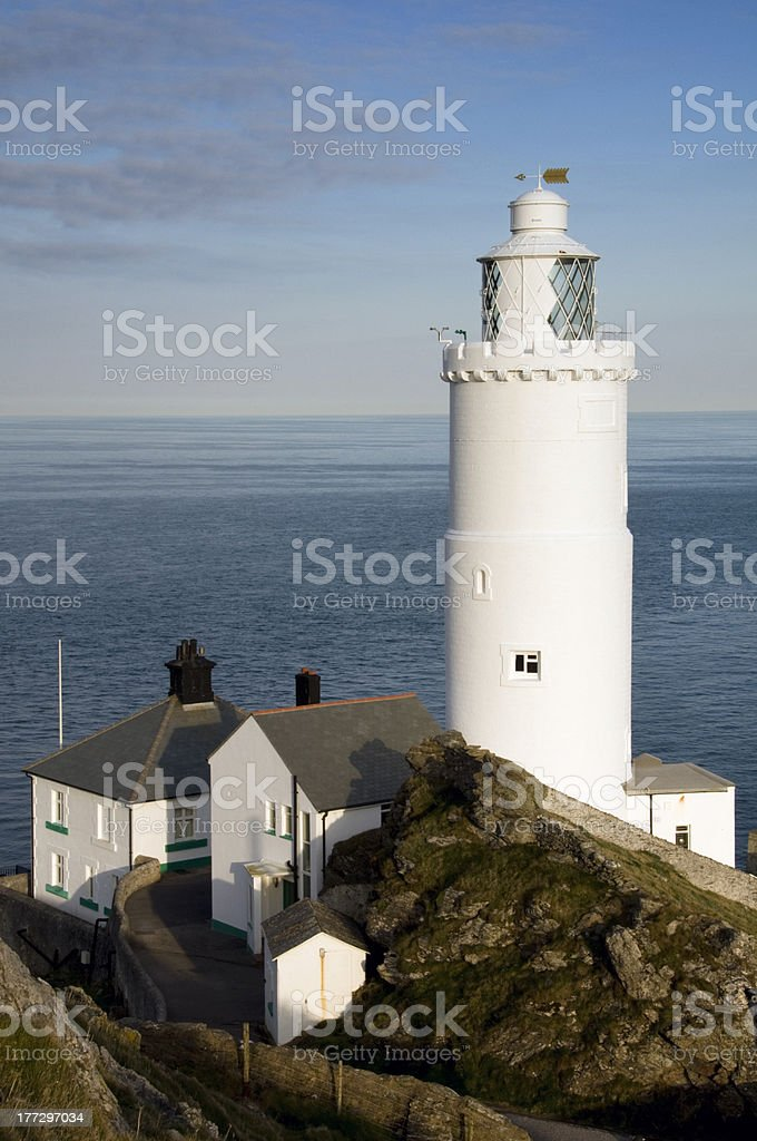 Start Point Lighthouse, Devon stock photo