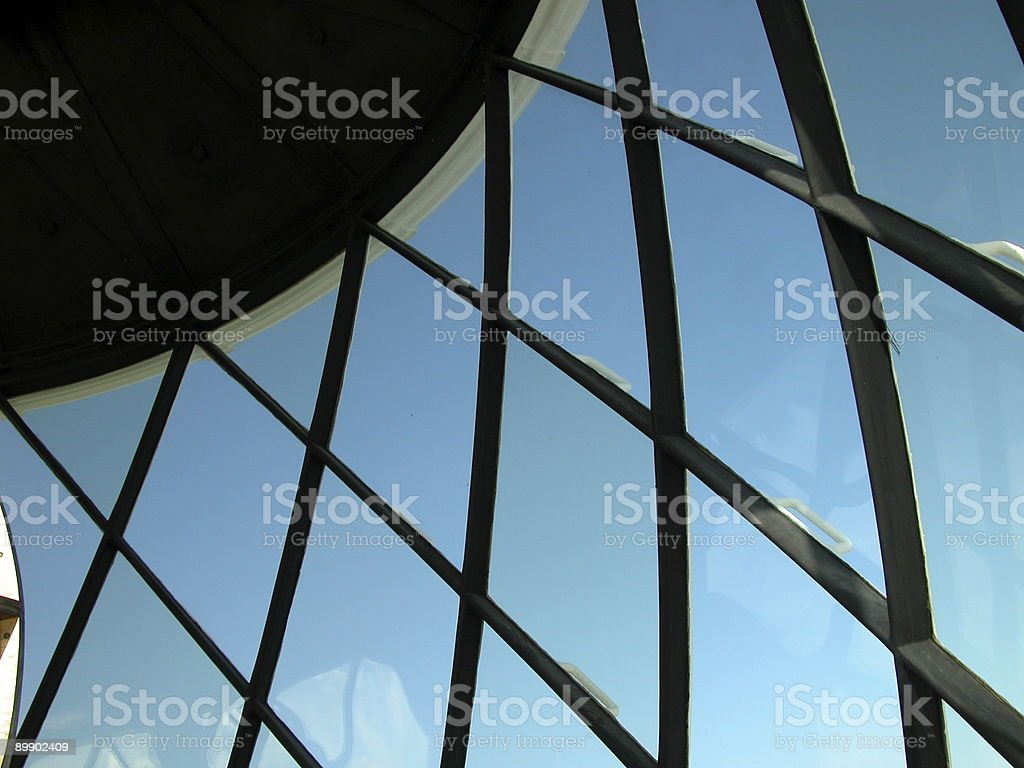 Start Point Lighthouse windows stock photo