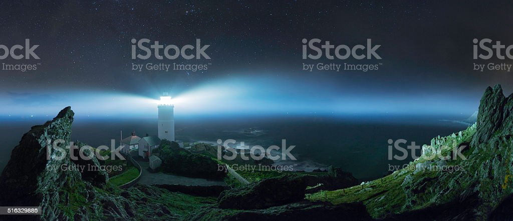 Start Point Lighthouse-Devon stock photo