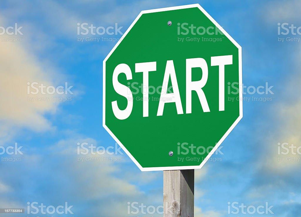 Start Sign royalty-free stock photo