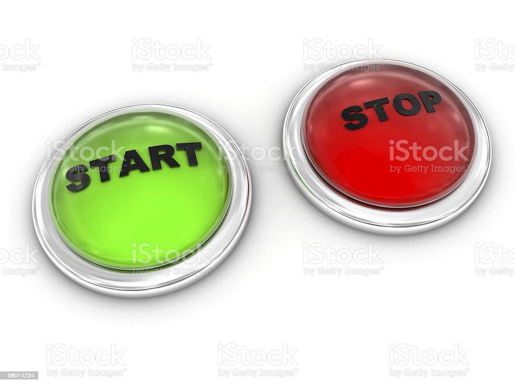 Start Stop royalty-free stock photo