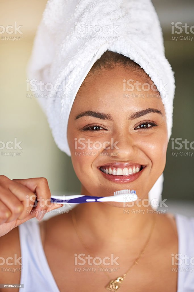 Start the day with a little sparkle stock photo