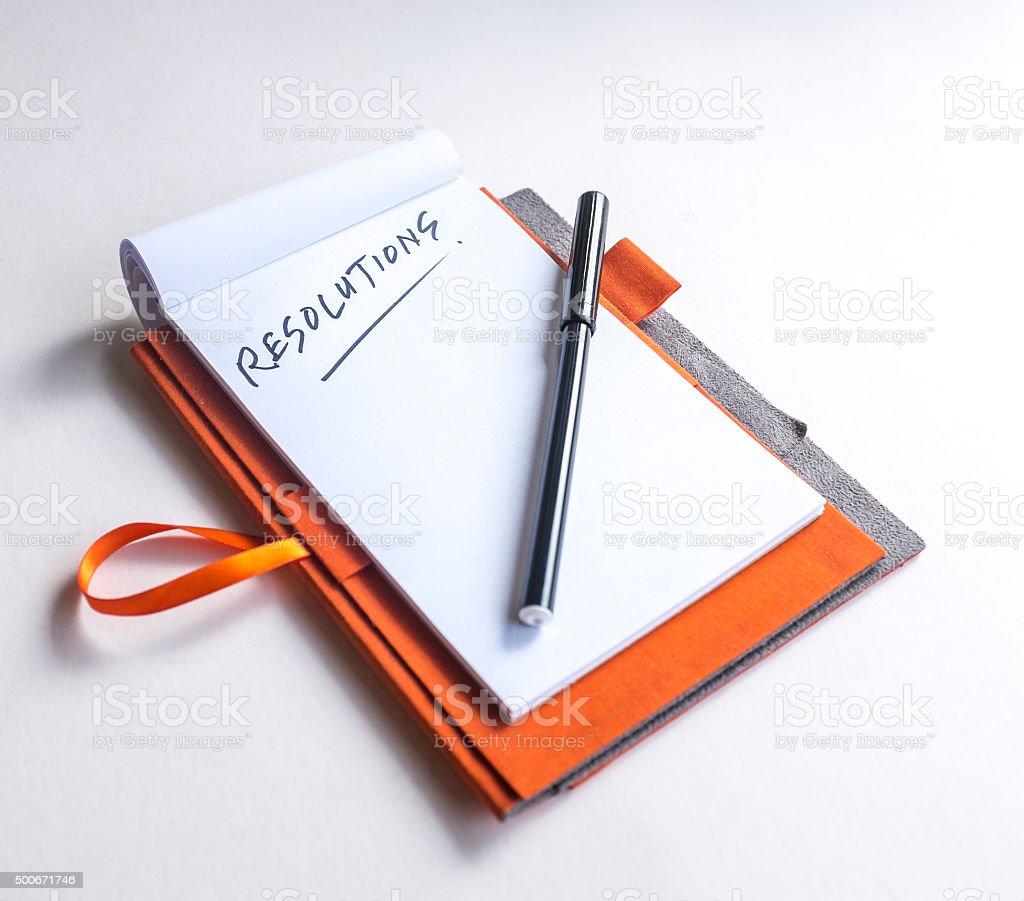 Start thinking of new year resolutions stock photo
