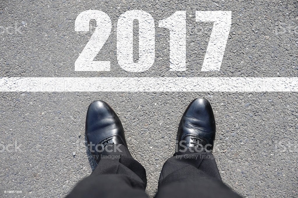 Start to new year 2017 stock photo
