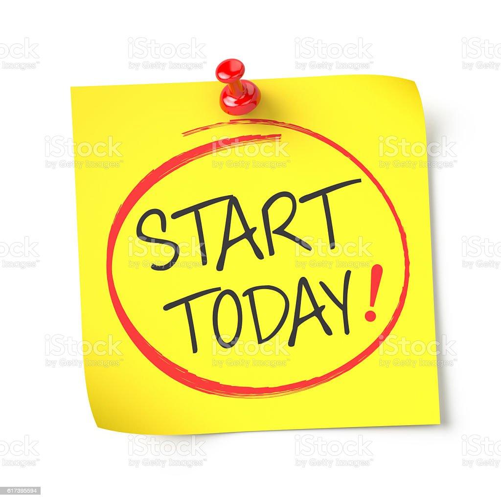 Start today stock photo