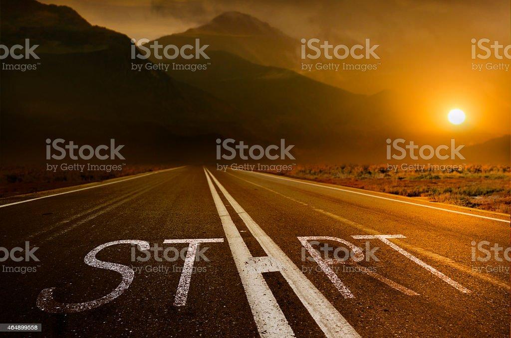 Start under the Sundown stock photo