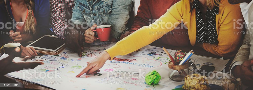 Start up Business Team Meeting Ideas Concept stock photo