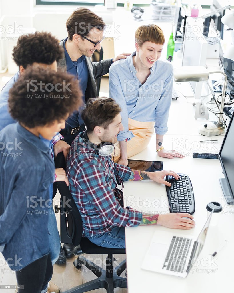 Start Up Business Team Meeting royalty-free stock photo