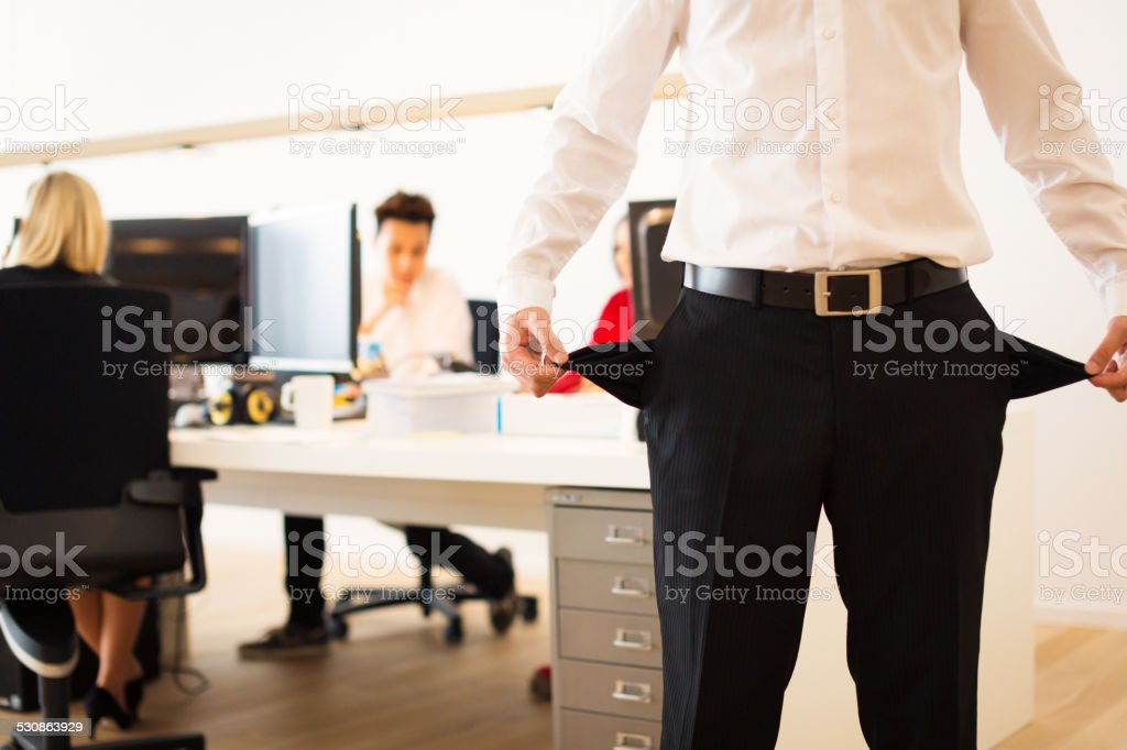 start up company is out of money stock photo