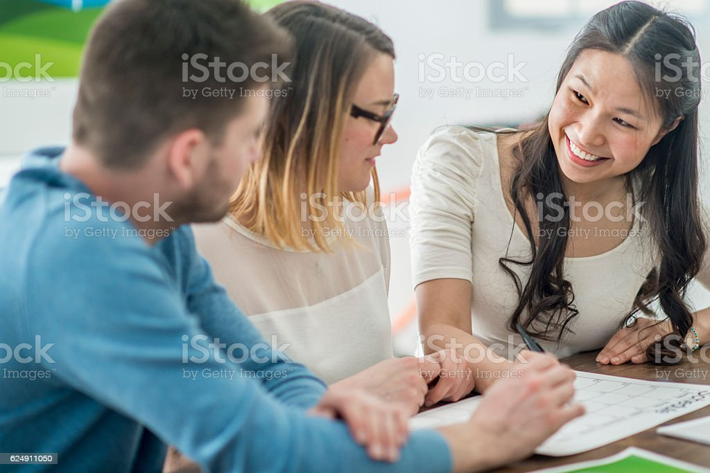 Start Up Company Working on Green Energy Ideas stock photo