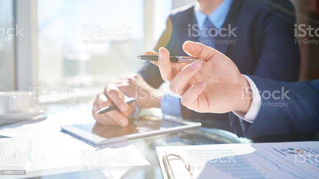 Start up documents stock photo