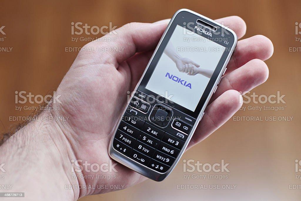 start up on Nokia phone stock photo
