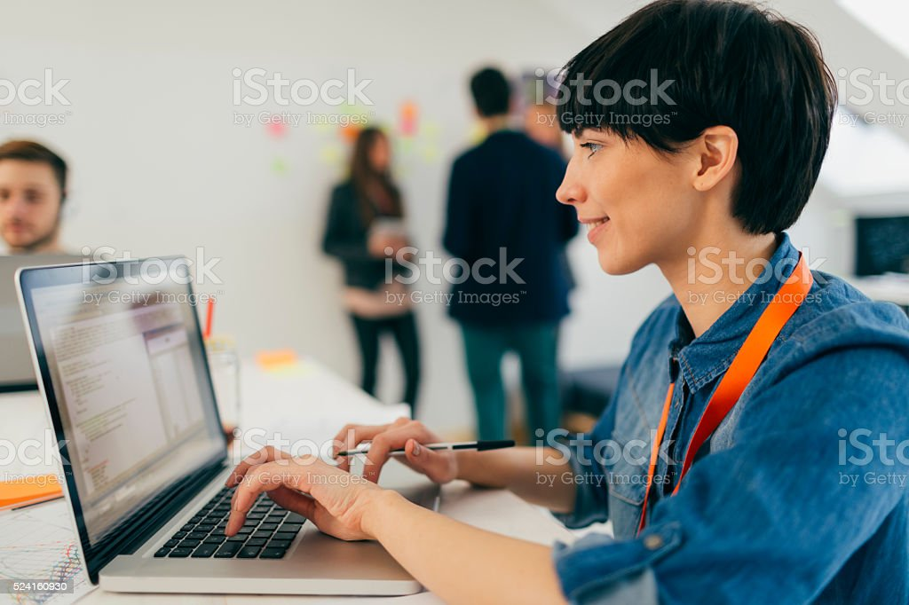 Start Up Team At Work. stock photo
