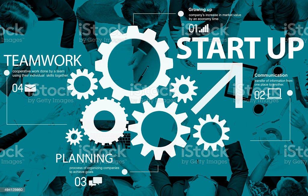 Start up Teamwork Strategy Development Equipment Concept stock photo