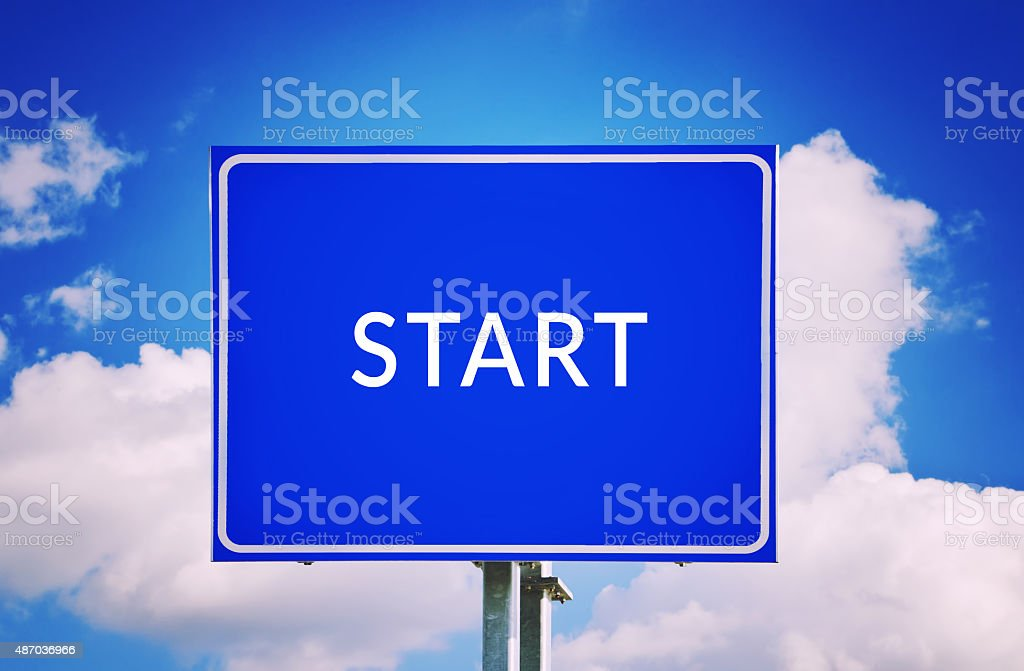 Start your life concept stock photo
