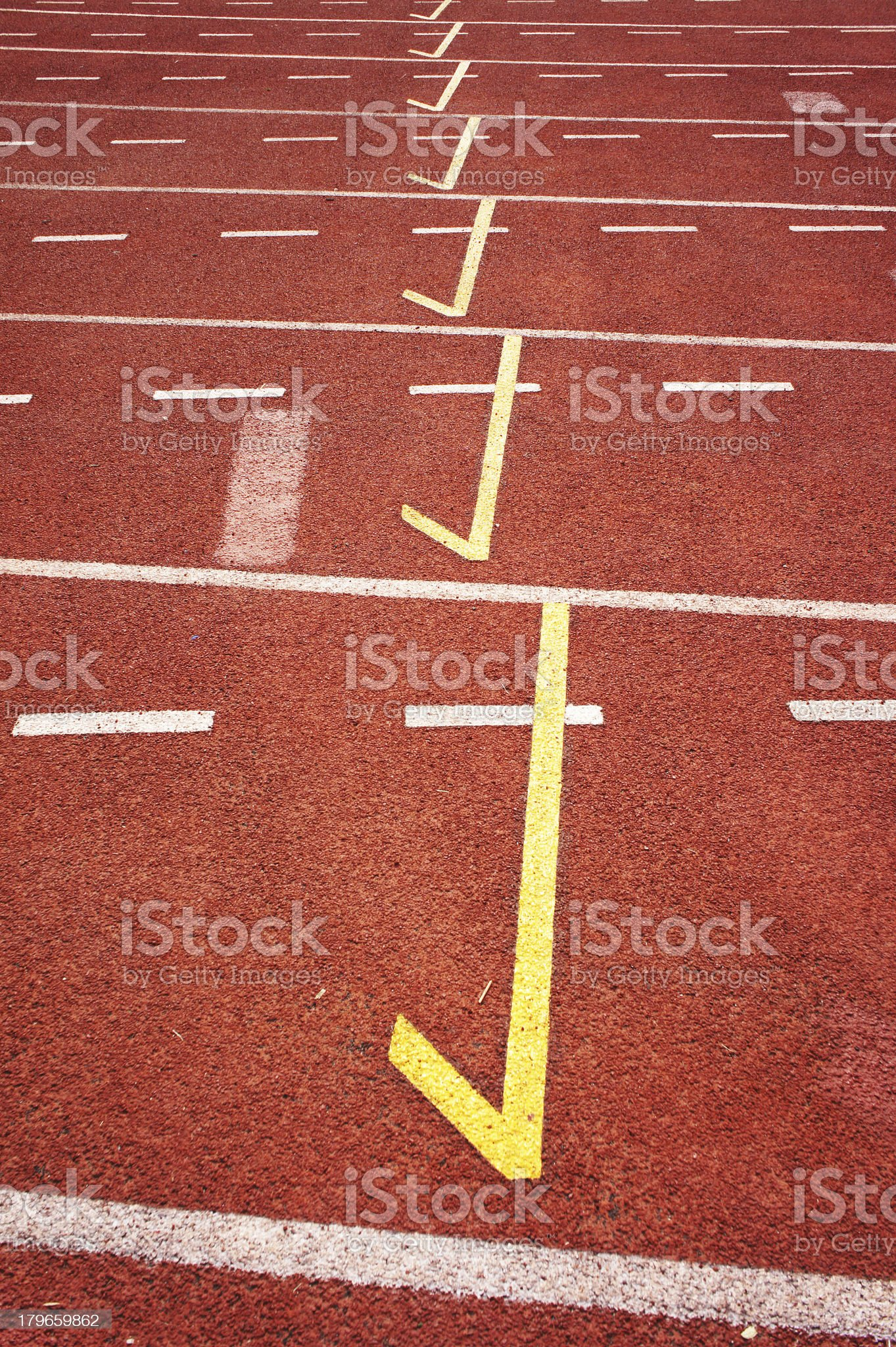 Started running track royalty-free stock photo