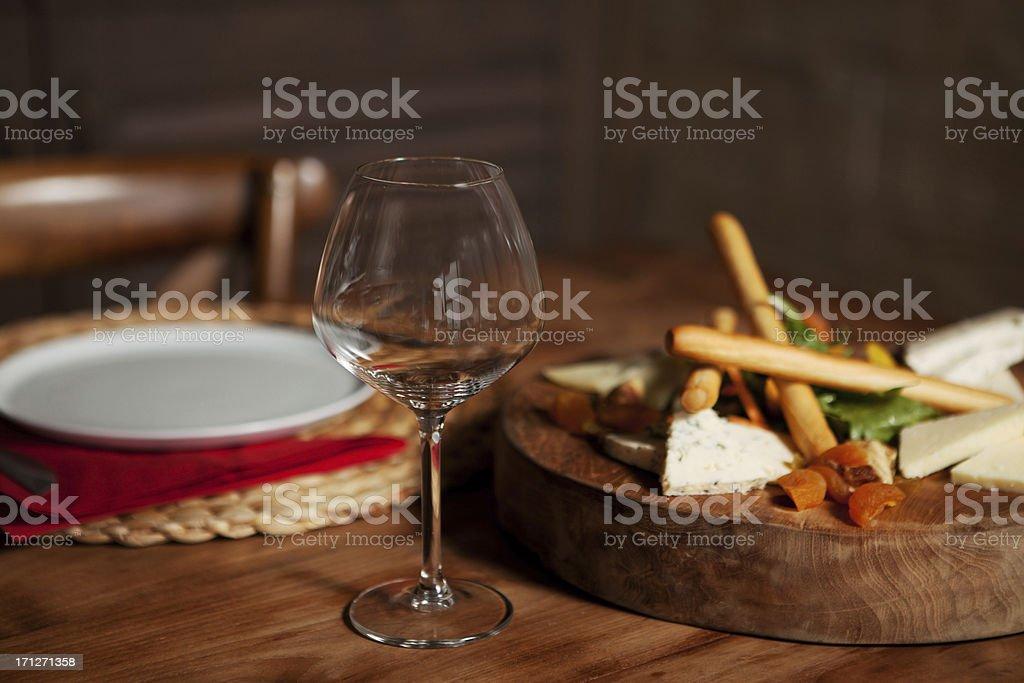Starter at fancy restaurant stock photo