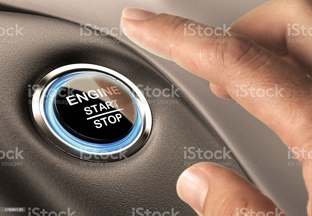 Starter Button stock photo