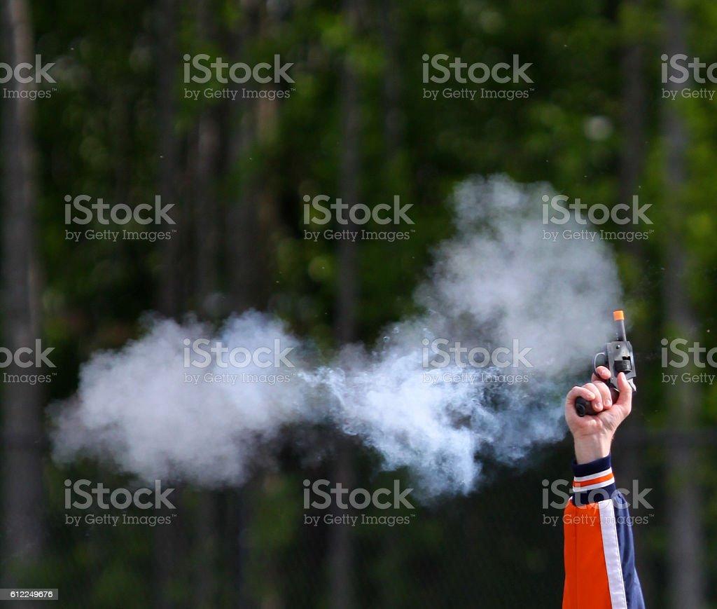 Starter's Pistol stock photo