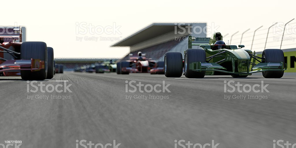 Startin g a Race stock photo