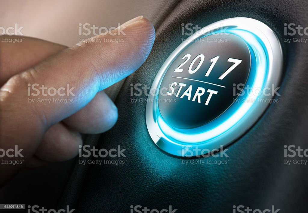 Starting 2017 stock photo
