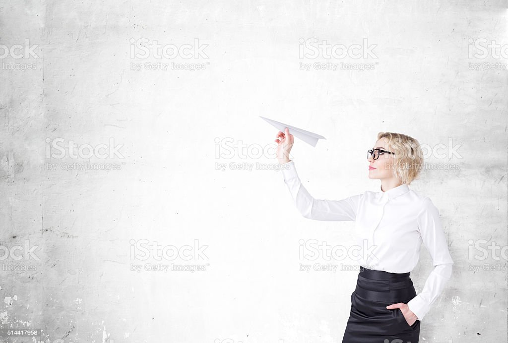 Starting a project stock photo