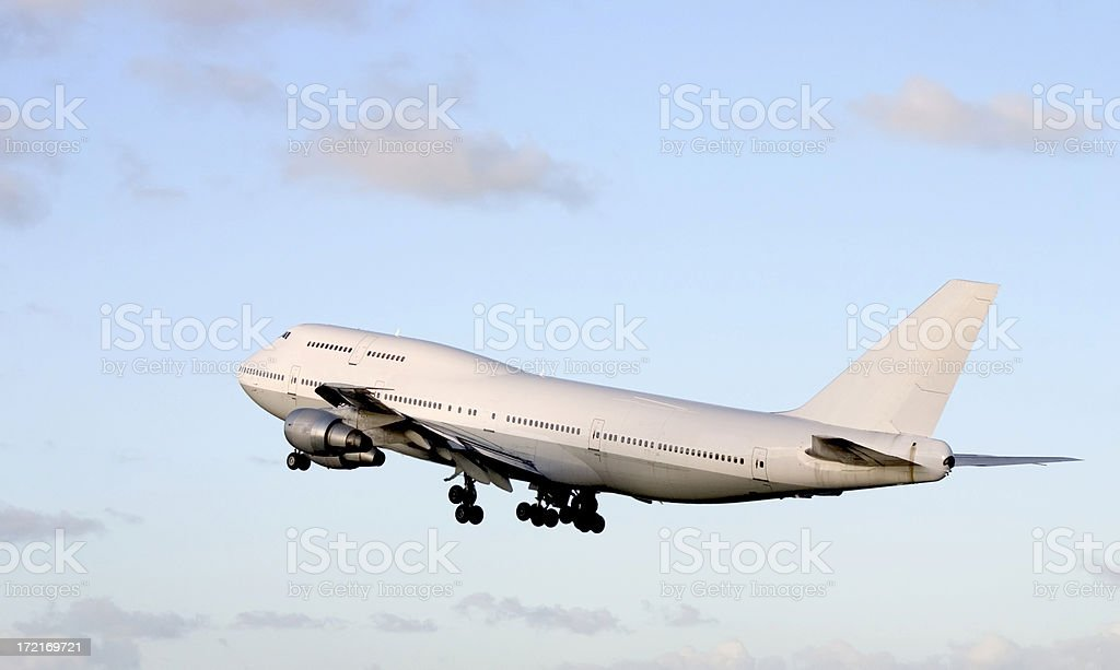 starting airplane stock photo