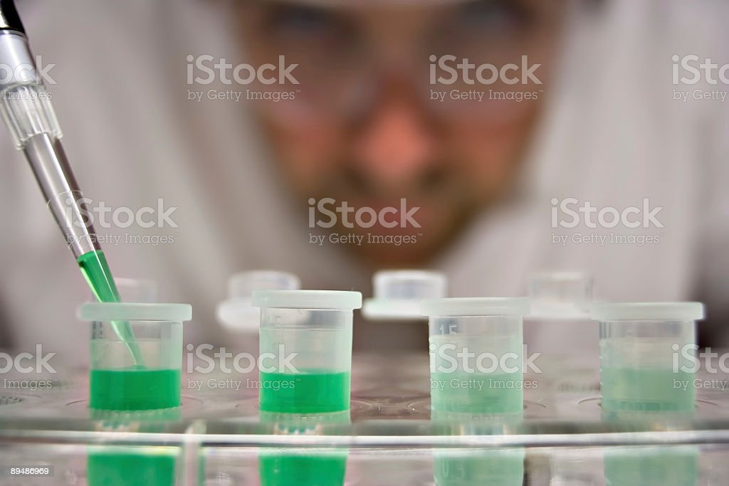 Starting an experiment stock photo