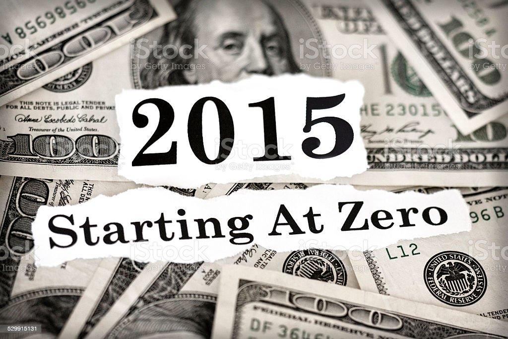 Starting At Zero stock photo
