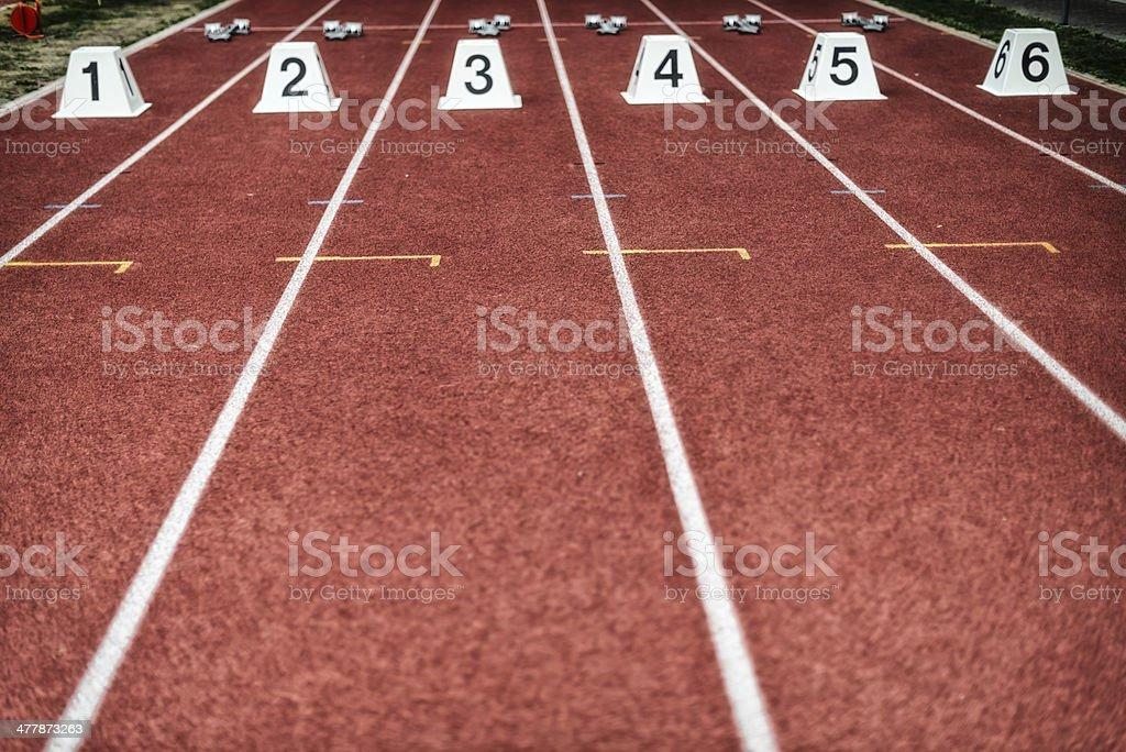 starting block at track and field royalty-free stock photo