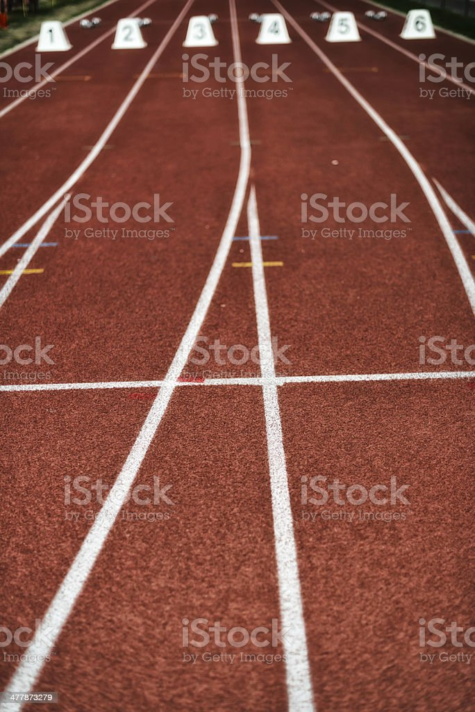 starting block at track and field stock photo