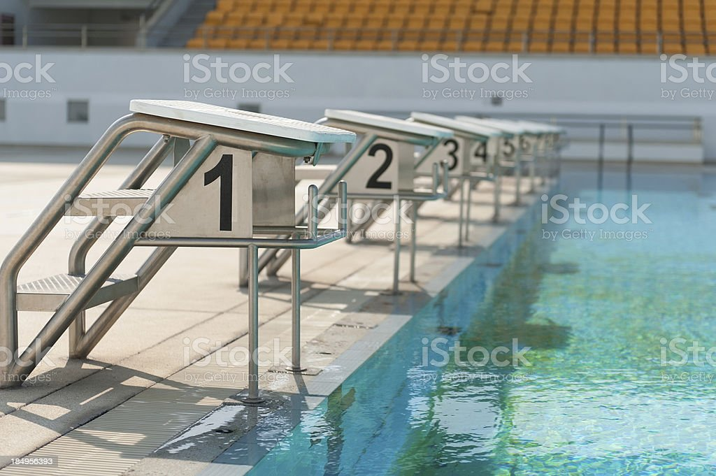 Starting block stock photo