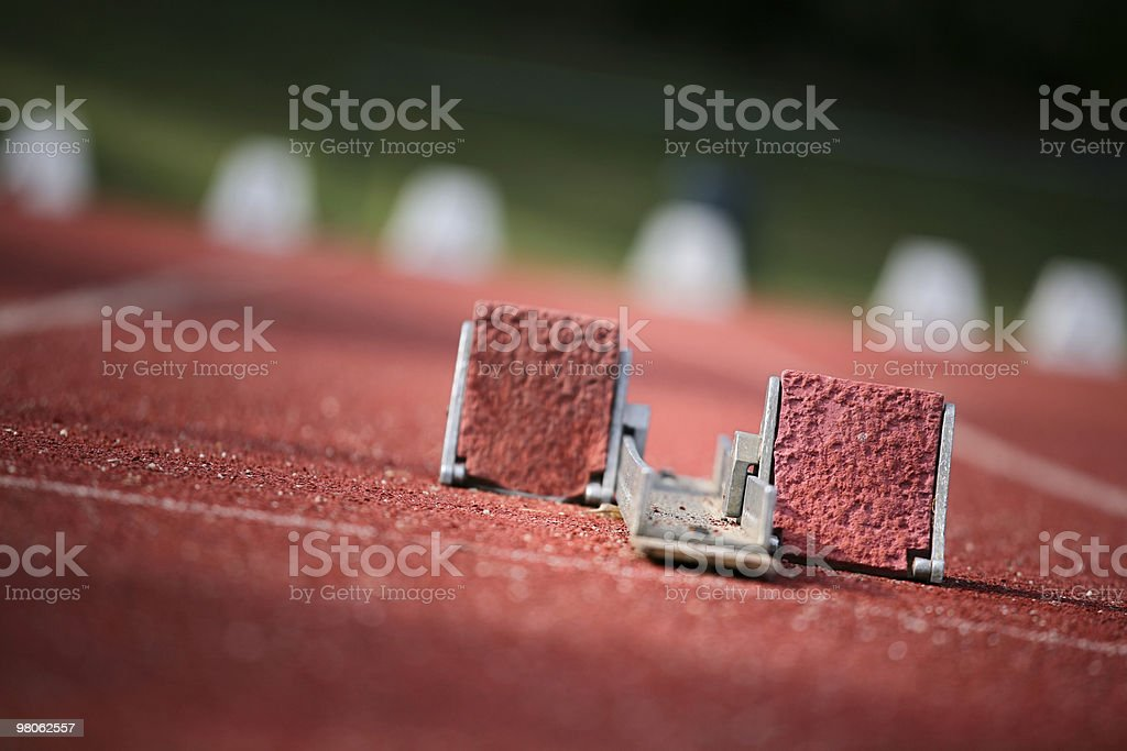 starting block royalty-free stock photo