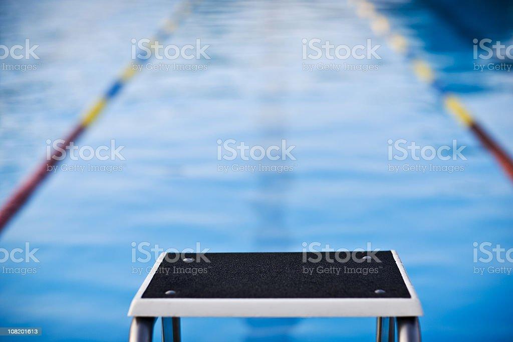 Starting Block Swimming Pool royalty-free stock photo