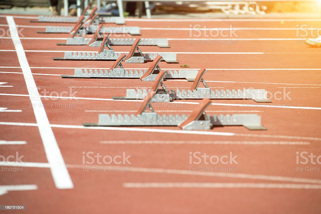 Starting Blocks royalty-free stock photo